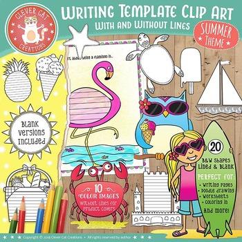 Four Seasons Writing Template Clip Art GROWING BUNDLE