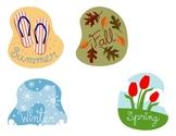 Four Seasons flannel board set for preschool or kindergarten