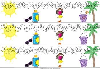 Four Seasons of Number Lines FREEBIE!