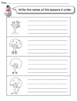 Seasons Worksheets & Teaching Resources | Teachers Pay Teachers