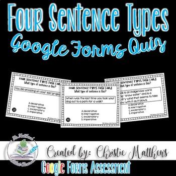 Four Sentence Types - Google Forms Quiz