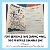 Four Sentence Types Graphic Booklet Zine Grammar