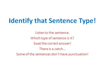 Four Sentence Types PowerPoint Game
