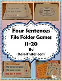 Four Sentences File Folder Game