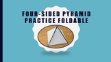 Four-Sided Pyramid Practice Foldable