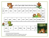 Four Sight Word Board Games for Literacy Stations RF.1.3, RF.2.3