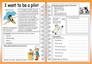ESL Four Skills Worksheet Bundle - 9 EFL worksheets + template