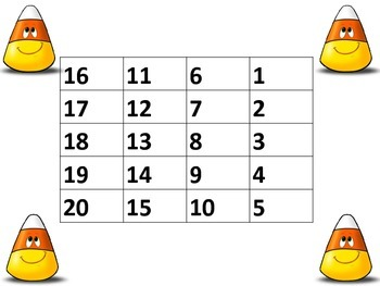Four Square Candy Corn 1-20