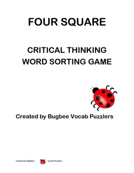 Four Square Critical Thinking Game