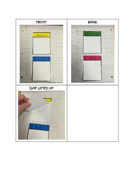 Four Square Flap Book