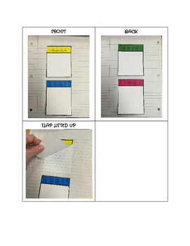 Four Square Flap Book