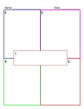 Four Square Graphic Organizers