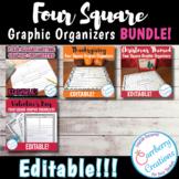 Four Square Graphic Organizers BUNDLE