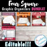 Four Square Writing Graphic Organizers BUNDLE