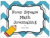 Four Square Math Journaling Number Sense