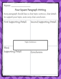 Four Square Paragraph Writing AND Peer Feedback Organizers