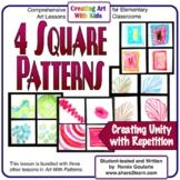 Art Lesson Four Square Patterns