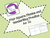 Four Square Phonics and Handwriting Aa to Zz