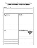 Four Square Pre-Writing Organizer