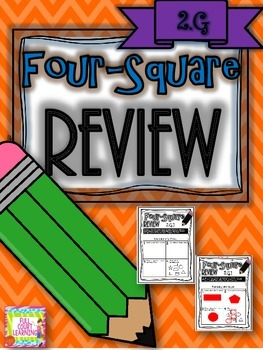Four-Square Review - 2.G Quick Math Assessments