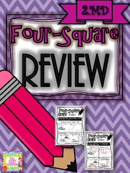 Four-Square Review - 2.MD Quick Math Assessments