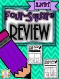 Four-Square Review - 2.NBT Quick Math Assessments