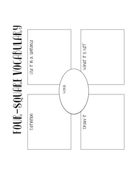 Four Square Vocabulary