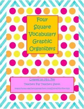 Four Square Vocabulary Graphic Organizer *FREEBIE*