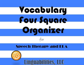 Four Square Vocabulary Organizer
