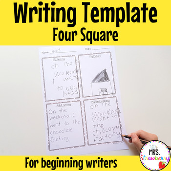 Four Square Writing Template for Early Writers