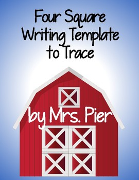 Four Square Writing Template to Trace
