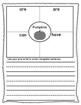 Four Square Writing Templates - November