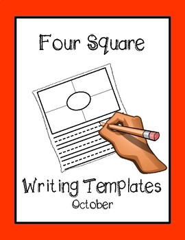 Four Square Writing Templates - October