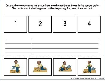 Four Step Sequencing Pictures & Activities: First, Next, Then, Last (Set 1)
