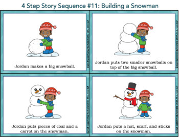 Four Step Sequencing Pictures & Activities: First, Next, Then, Last (Set 2)