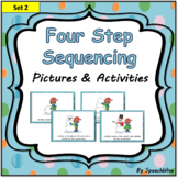 Four Step Sequencing Pictures & Writing: First, Next, Then