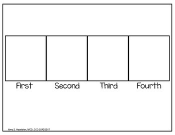 Sequencing Photographs Four Steps with Sequencing Mats/Data Sheet