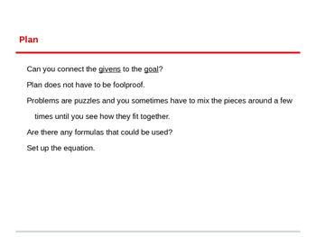 Four Steps to Solve Any Word Problem!