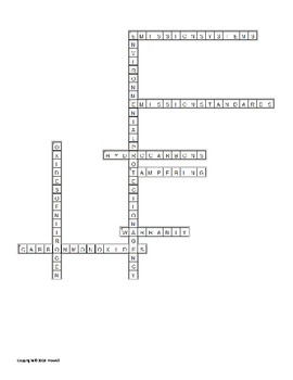 Four Stroke Engine Emissions Components Crossword for an Agriculture Power Class