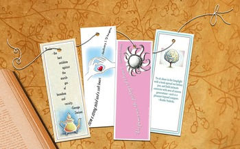 Four Sweet Bookmarks With Smarty Pants Quotes - Printable PDF