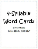 Four-Syllable Word Cards
