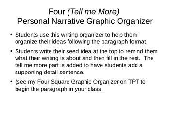 Four (Tell Me More) Square Graphic Organizer