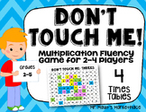 Four Times Tables: Don't Touch Me! Multiplication Fact Fluency Game