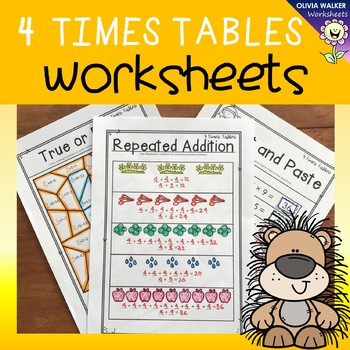 Four Times Tables Worksheets Multiplication Printables