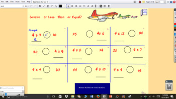 4 Times the Fun Multiplication Interactive flipchart
