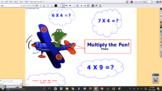 4 Times the Fun Multiplication Interactive flipchart