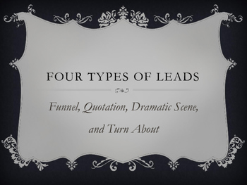 Four Types of Non-fiction Leads