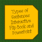 Four Types of Sentence Structure Interactive Flipbook and