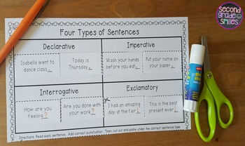 Types of Sentences (Task Cards & Printables)