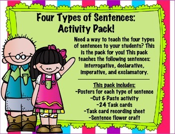 Four Types of Sentences: Activity Pack